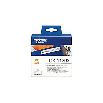 Brother DK11203 - DK ENKELE LABLE ROLLEN - F/ QL-500 550 300PCS/RL 17X87M