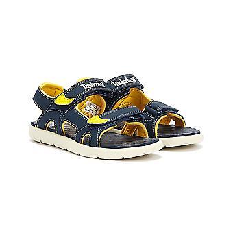 Timberland młodość niebieski Perkins wiersz 2-Strap sandały
