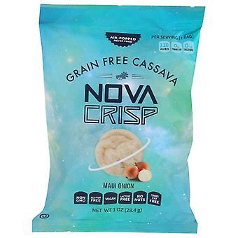 Novacrisp Chips Cassave Maui Onion, Case of 24 X 1 Oz