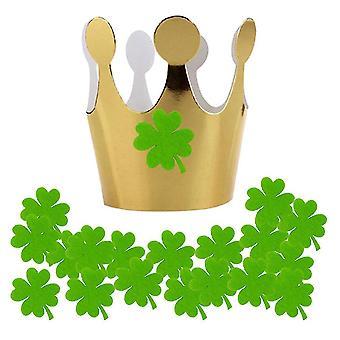St. Patrick's Day Ornaments Green Felt Cloth Crown Cap Fotografier Rekvisita Irländsk Festival Party Decoration