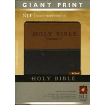NLT Holy Bible Giant Print BrownTan indexerad av Edited av Tyndale