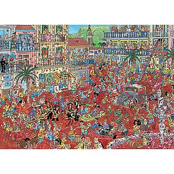 The Tomato Battle Jigsaw Puzzle 1000 Pieces