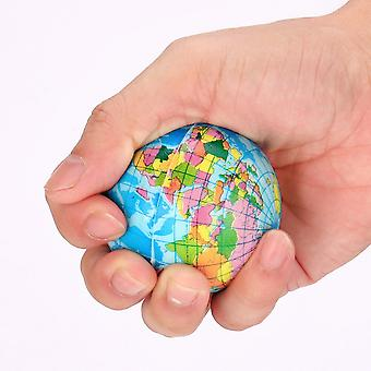 Anti Stress World Map Foam Ball Atlas Earth Globe Planet Squeeze Squishy Relief Toys For Children