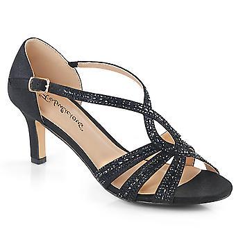 Fabulicious mujeres's zapatos MISSY-03 Blk tela brillante