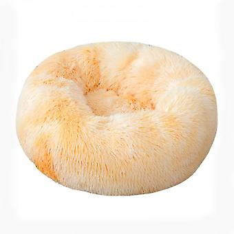 Mimigo Luxurious Orthopedic Donut Dog Bed Fluffy Lightweight Bedding Pads For Dogs & Cats Made From Ultra-comfortable Faux Fur With An Anti-slip Botto