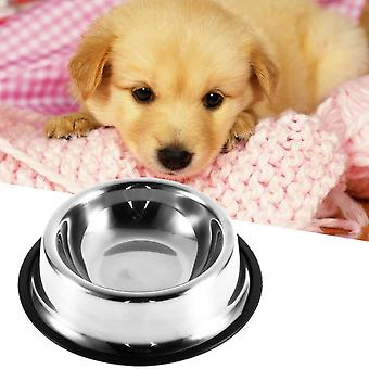 Stainless Steel No Tip Non Slip Dog Puppy Pet Food Water Bowl Dish12/32/64oz
