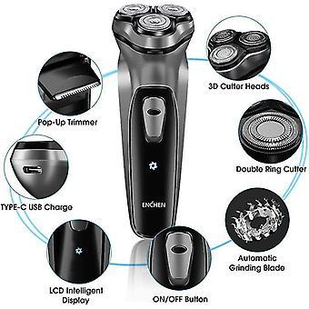 آلة حلاقة الوجه الكهربائية الحلاقة قابلة للغسل اللحية