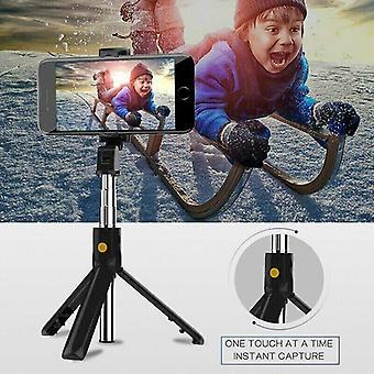 (Black) 4 in 1 Bluetooth Selfie Stick Tripod Phone Holder Wireless Remote Extendable UK