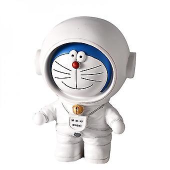 אסטרונאוט פיגי בנק קישוט שולחן עבודה עבור חדר שינה תפאורה(L)