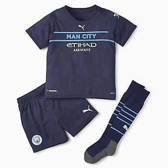 Puma Manchester City 2021/22 Junior Kids Mini Kolmas JalkapalloSarja Navy Blue