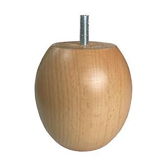 Houten bolpoot 10 cm (M10) (1 stuk)