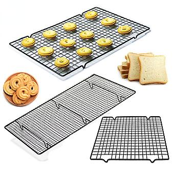 Cooling Tray Cake Stainless Steel Wire Grid Food Rack Oven Kitchen Baking Pizza Bread Barbecue Cookie Biscuit Holder Shelf