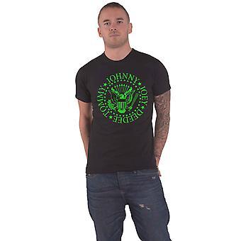 Ramones T Shirt Green president Seal Band Logo ny officiell mens svart