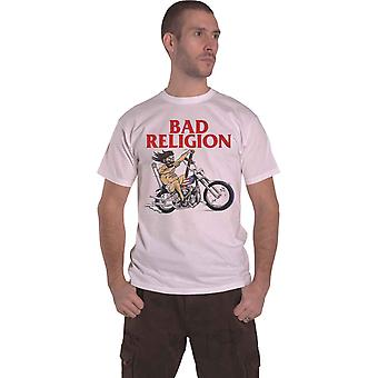 Bad Religion T Shirt American Jesus Band Logo new Official Mens White