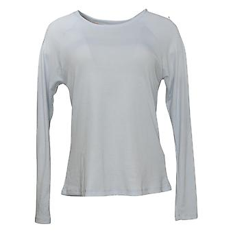Maiden Form Women's Top Ribbed Long Sleeve Tee Blue 631063
