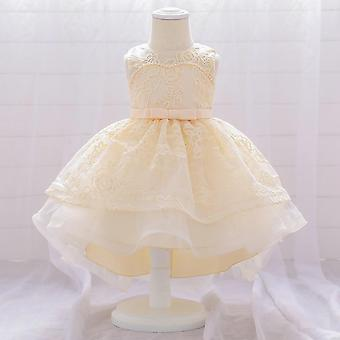 Infant Trailing White Baby Taufkleider Kleider
