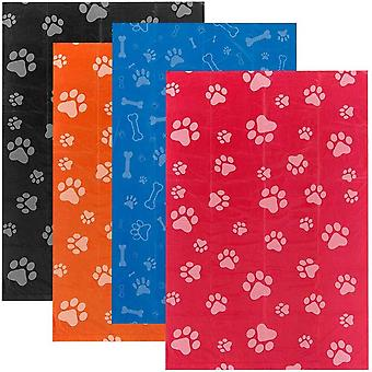Dog poop bags for waste refuse cleanup, doggy roll replacements for outdoor puppy walking and travel, thick plastic mixed colors