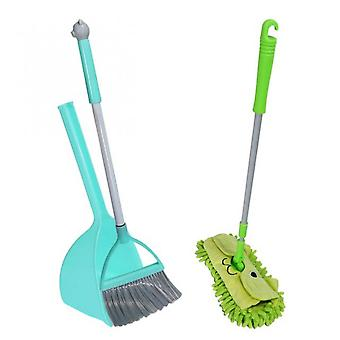 Koolyou Cleaning Tools Family Child Care Set-3 X, Small Mop And Brush, Small Dustpan