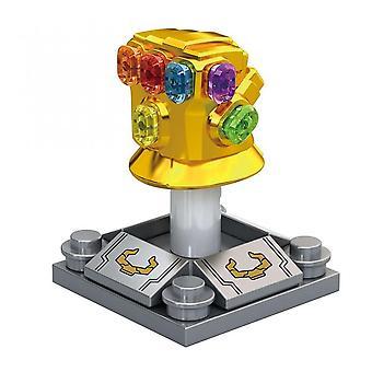 7cm EndSpiel Thano Rüstung Iron Man mit Infinity Gauntlet Schwert Große Größe Figuren Mini Puppen Bausteine Spielzeug für Kinder Geschenk Halloween