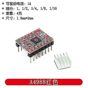Motherboards 100pcs 3d printer parts stepstick a4988 drv8825 stepper motor driver module with heatsink reprap