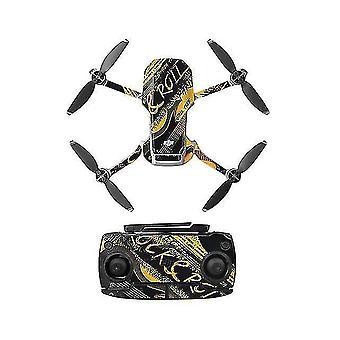 Remote control helicopters pvc sticker mavic mini drone decals controller skin stickers set for dji mavic mini accessories j
