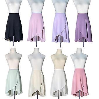 Ballet Dance Skirt Women High-density Pearl Chiffon Dancing Leotard Dress