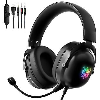 Gaming Headset For Xbox One, Ps4, Ps5, Pc, Laptop, Noise Cancelling Headphones With Microphone