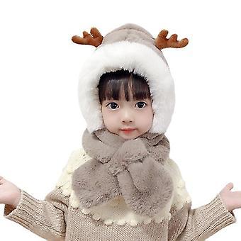 Aranyos plüss karácsonyi szarvas kalap