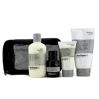 Logistics For Men The Perfect Shave Kit: Cleanser + Pre-shave Oil + Shave Cream + After Shave Cream - 4pcs