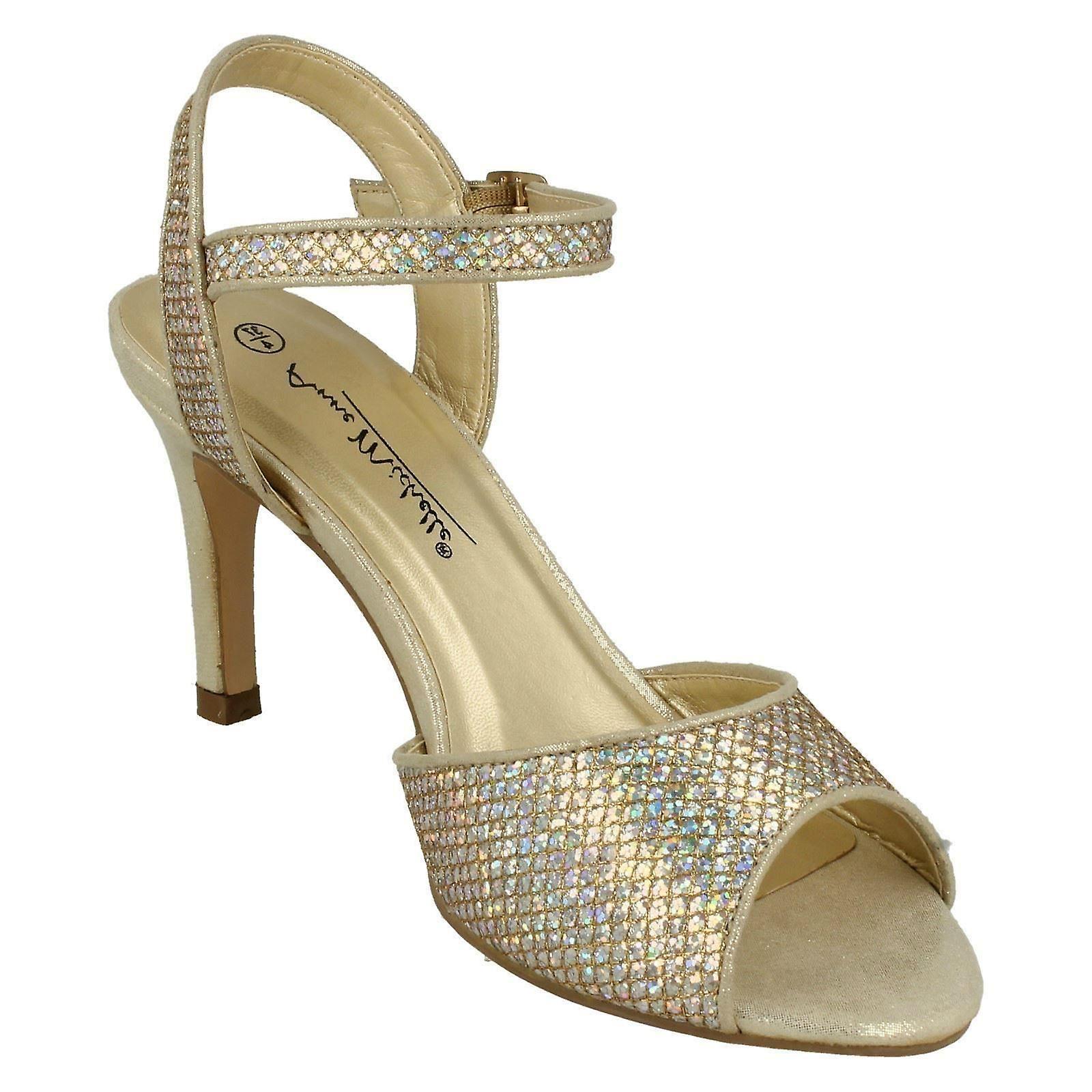 Panie Anne Michelle Glitter Peep Toe sandały F10467 90U3N