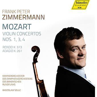 Mozart / Zimmermann / Szulc - Violin Cons 1 3 & 4 [CD] USA import