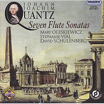 Quantz / Oleskiwicz / Vial / Schulenberg - Seven Flute Sonatas [CD] USA import