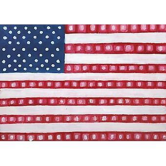 Geometriske amerikanske plakat Print af Anne Seay