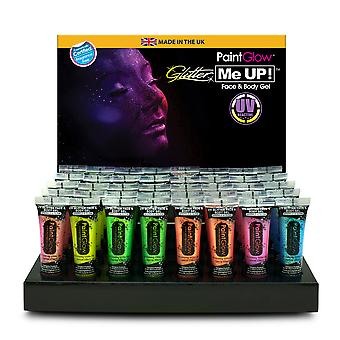 PaintGlow UV Neon Glitter Body Gel Various Colours 10 ml