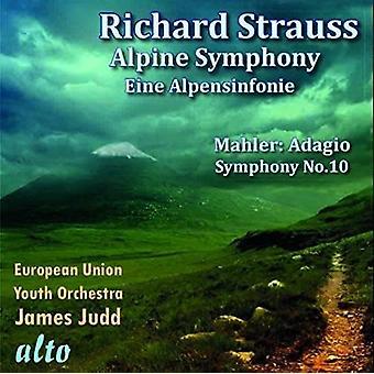 Strauss / Mahler / European Union Youth Orchestra - Eine Alpensinfonie / importer des USA de l'Adagio de la Symphonie no 10 [CD]