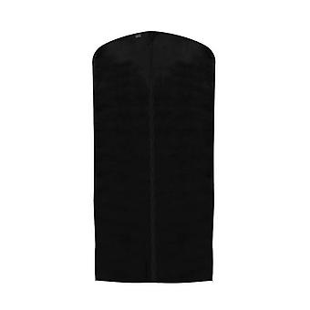 Pack of 3 Black Breathable Zipped Suit Covers Polypropylene  Zipped  99x60cm by Caraselle