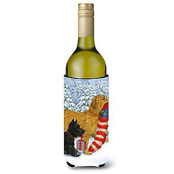 Keep Up There, Scottie Scottish Terrier Wine Bottle Beverage Insulator Hugger
