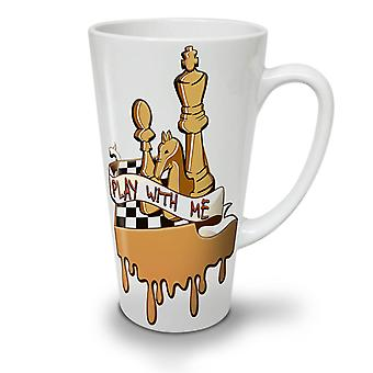 Play Chess With Me NEW White Tea Coffee Ceramic Latte Mug 12 oz | Wellcoda