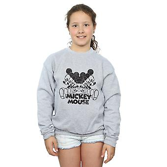 Disney Girls Mickey Mouse Mirrored Sweatshirt
