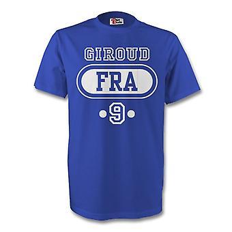 Olivier Giroud Frankreich Fra T-shirt (blau) - Kids