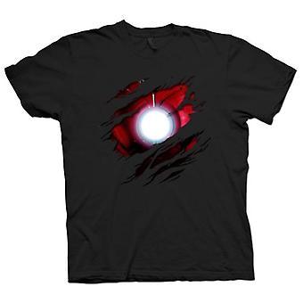 Mens T-shirt - Iron Man Under Shirt Effect - Movie Superhero
