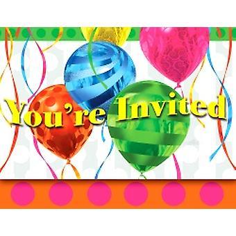 Ballon-hell-Einladungen