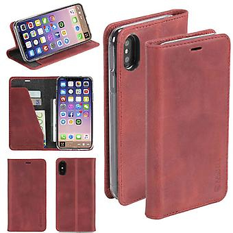 Krusell Sunne Leather Folio case for Apple iPhone X / XS 5.8 leather case protector cover Red