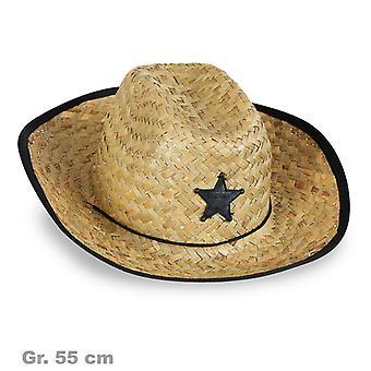 Cowboy naturalne słomy Gwiazda szeryfa dziki zachód