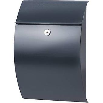 Burg Wächter 38710 CAPRI 813 ANT Letterbox Steel plate Anthracite Key