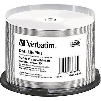 Verbatim 43734 lege DVD-R 4,7 GB 50 PC (s) spindel afdrukbare