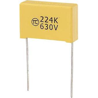 1 PC('s) MKS dunne film condensator radiaal leiden 0,22 µF 630 Vdc 5% 22.5 mm (L x W x H) 26,5 x 8,5 x 17 mm