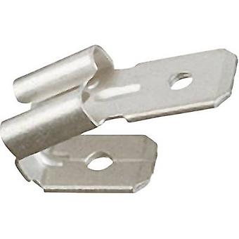 Klauke 725 distributör terminal Connector bredd: 6,3 mm kontakten tjocklek: 0,8 mm 15 ° inte isolerad metall 1 dator