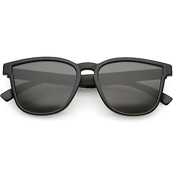 Bocina clásica montura gafas de sol cuadrados amplia brazos Neutral color lente 52mm