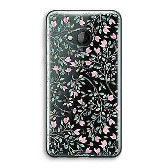 HTC U spelen transparant Case (Soft) - Dainty bloemen